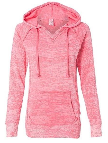 レディースファッションコートニーバーンアウトフード付きプルオーバーブレンドフリーススウェットシャツS-5XL