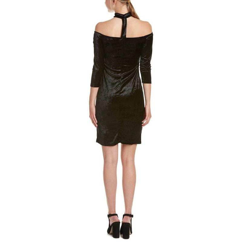 タイミング レディース トップス ブラウス【Timing Off-The-Shoulder Velvet Sheath Dress】Black