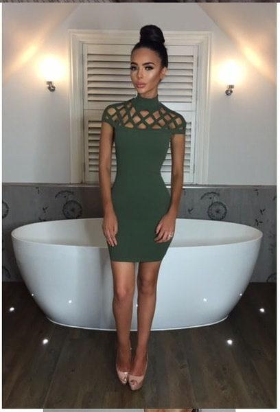 女性ファッションBodyconセクシーなタイアップクラブドレストップススカート