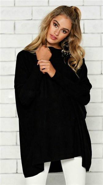 レディースファッションバットウィングロングスリーブTシャツ不規則なブラウスTシャツ秋冬ゆるやかなピュアカラー