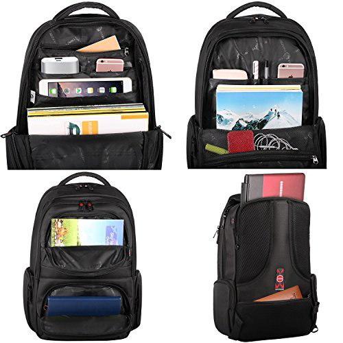 KuP.R.Ine Slim Business Lightweight Laptop Backpack for Men Women, Anti Theft Water Resistant Trav