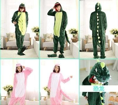 Autumn spring winter flannel lovers couples women animal pajamas one piece cartoon sleepwear kugurum