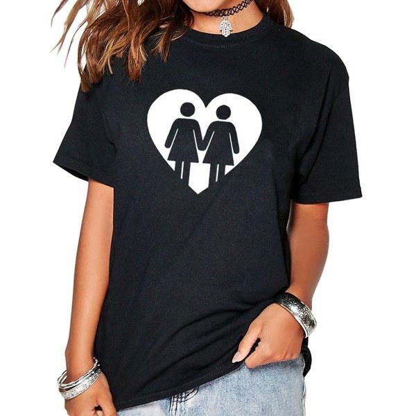 2017 Tシャツ女性のレズビアンで面白い原宿女性のための製品衣類エイリアンヴィンテージTシャツフェム