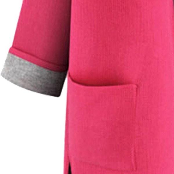 新しい大きなサイズの女性のファッションルーズ薄いフード付きカーディガンの女の子冬のコットンコートジャケットカラーピン