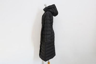 [ナンニン9]【】レディース ダウンコート 無地 シンプル ロング フード付き 冬 中綿コート ゆったり 大きいサイズ ひざ下丈 ロングダウンコート 羽織り 暖か 長袖 膝丈 ハイネック ウエストリボン n