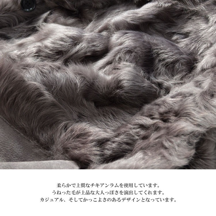 チキアンラムムートンジャケット(w-1705)羊革 レディース 毛皮 リアルファー ラム ムートン ジャケット チキアンラム ラムレザー
