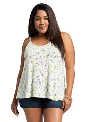 Floral Crochet Trim Tank Top