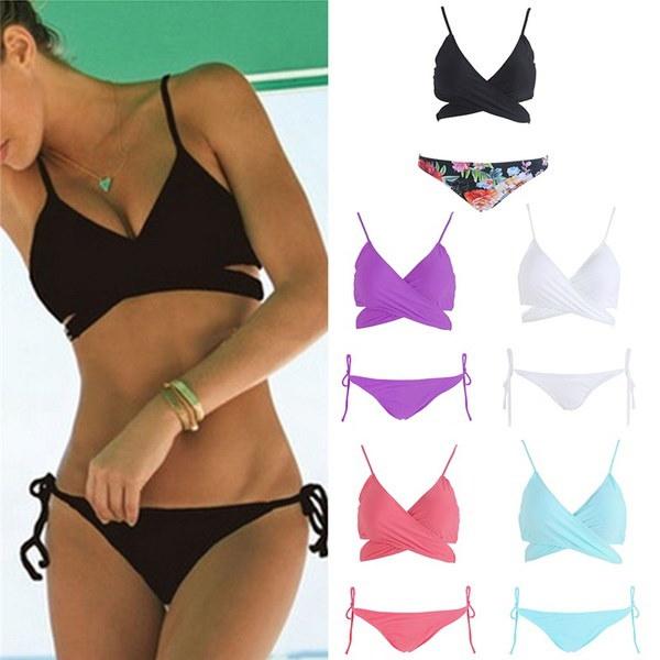 夏の水着の女性セクシーなビーチ水着の水着は、ブラジルのマイヨットビキニセットBABをプッシュアップ