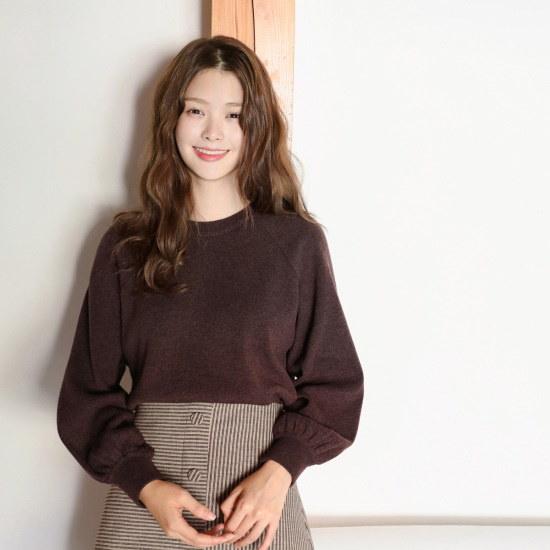 チェリーココmix olive、knitC709PWKN30パフニットワインシンプルパクシピッI ニット/セーター/韓国ファッション
