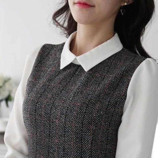 【ココアベニュー]アンナカラーワンピース_80102 綿ワンピース/ 韓国ファッション