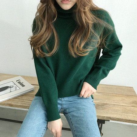 アリウポーラニットKorean fashion style