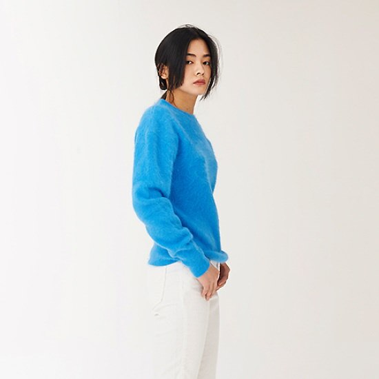 レディートウウエアレディートウウエアBblue angora KNIT ニット/セーター/ニット/韓国ファッション
