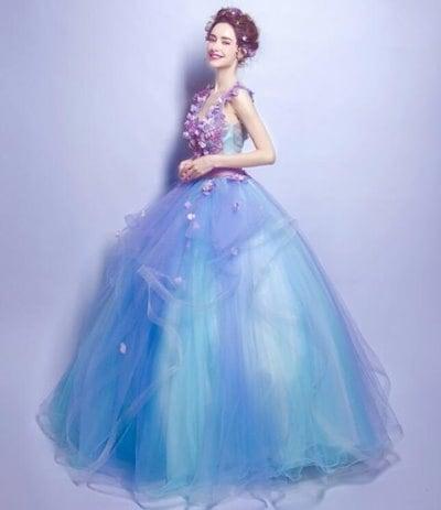ウェディングドレス 二次会 ロング 二次会ドレス パーティードレス ロングドレス 花嫁ドレス 舞台ドレス 結婚式 カラードレス 20代 30代 40代 新作