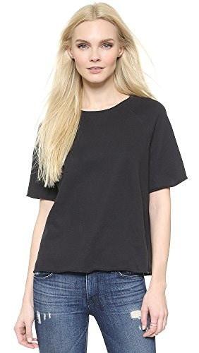 Zoe Karssen Womens Loose Fit Raglan Sweater, Pirate Black, Large