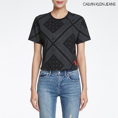 [AK公式ストア][CalvinKlein Jean】女性バンダナ半袖Tシャツ(4BSKSS9)