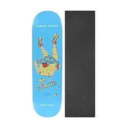 Bundle of 2 Items 8.5 x 32 with Mob Grip Perforated Black Griptape Chocolate Skateboards Kenny Anderson One Off Trumpet Skateboard Deck