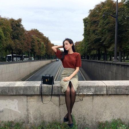 パリの雰囲気女神半袖ニットKorean Style