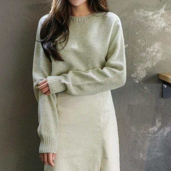 チェリーココlucumi、knitC709PHKN64基本ニットラウンドとてもカラー泣くE2 ニット/セーター/韓国ファッション