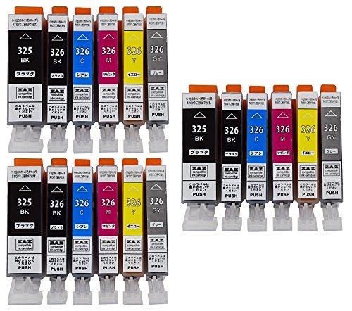 ZAZ BCI-326+325/6MP 6色セット×3パック 合計18個 canon 互換インク ICチップ付き 残量表示可 FFPパッケージ(O)