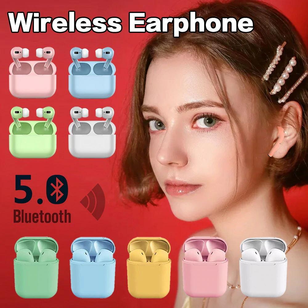 Bluetooth5.0ワイヤレスイヤホン /両耳 マカロン色 6色対応 高音質 充電ケース コンパクト 軽量 最新 タッチ操作 大容量電池 着け心地抜群 mini超軽 IPX7 完全防水防滴