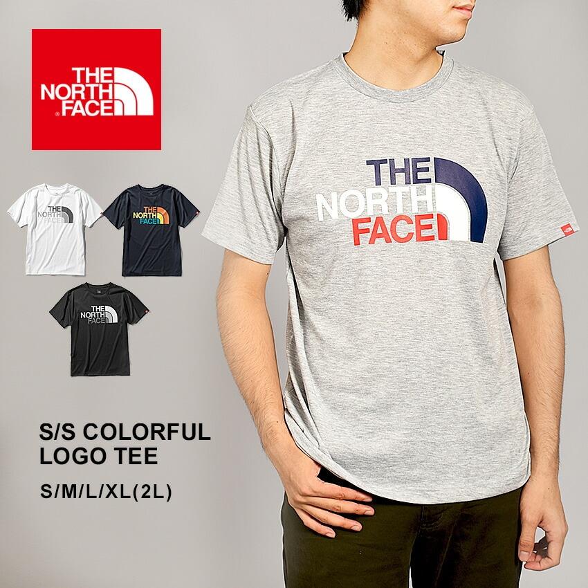 ザ ノースフェイス THE NORTH FACE 半袖Tシャツ ショートスリーブカラフルロゴティー S/S COLORFUL LOGO TEE NT32037 メンズ ノースフェース トップス アウト