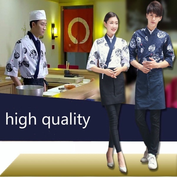 Food Service Sushi Chef Japanese Restaurant Uniforms Coffee Hotel Restaurant Waitress Waiter Hippy