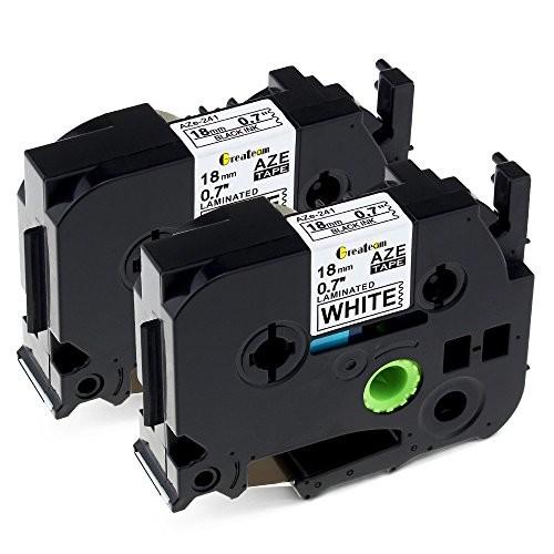 互換 ブラザー工業 ピータッチ 18mm tzeテープ TZe-241 ピータッチテープ 白 ブラザー P-touch PT-P710BT PT-P750W PT-P700 PT-P900W、 2個セ