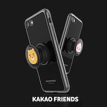 【Kakao friends】カカオフレンズグリップトックブラックケース/Kakao friends grip tok black case/4種・iPhone・Galaxy