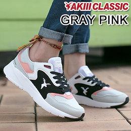 ◆送料無料◆ AkiiiClassic ODYSSEY Gray/Pink スニーカー/スリップオン/スポーツ/シューズ/パンプス/k-pop Star 韓国ファッション 靴