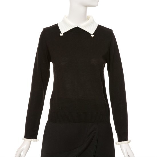 ケネス・レディーカラ装飾ニートEKPOGJ02 カラーニット/ニット/セーター/韓国ファッション