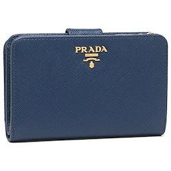 54e5c807f6ab プラダ 財布 PRADA 1ML225 QWA F0016 SAFFIANO METAL ORO サフィアーノ レディース 二つ折り財布 無地  BLUETTE