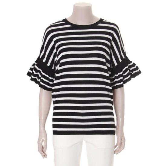 ジコッダンカラ小売ラッフルニート7227250085 ニット/セーター/韓国ファッション