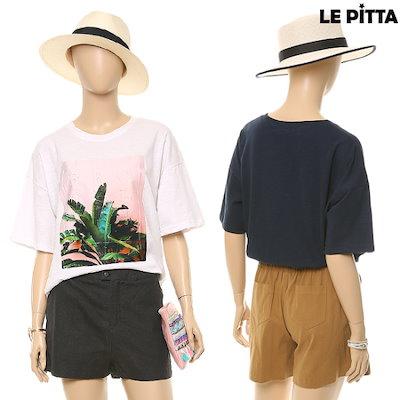 ルピタキャラクターラウンドティーシャツL172CTS757 プリント/キャラクターシャツ / 韓国ファッション