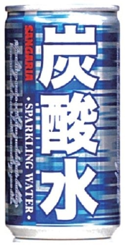 サンガリア 炭酸水 185ml ×30本