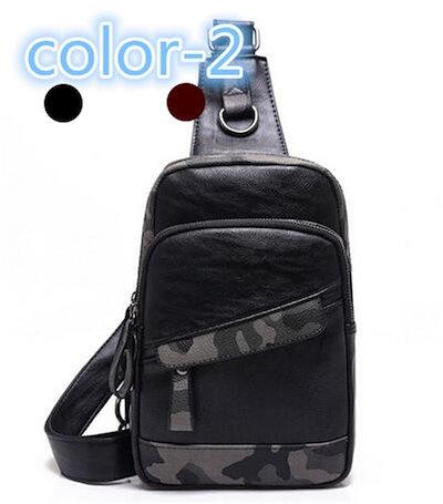 メンズバッグ レジャー ミリタリー レザー 斜めがけ マッチングしやすい 旅行/通学/ビジネス/鞄/デイパック デイパック メンズバッグ