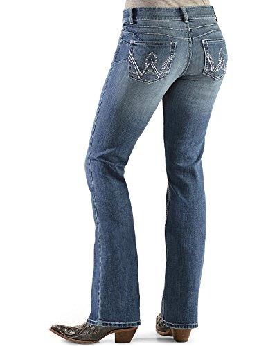 Wrangler Womens Premium Patch Booty Up Bootcut Jeans Denim 5W x 34L