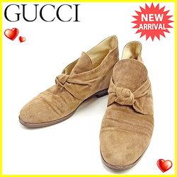 f6050a0eff84 グッチ Gucci シューズ #35B レディース ブラウン系 スエード 人気 セール 【中古】 T1001