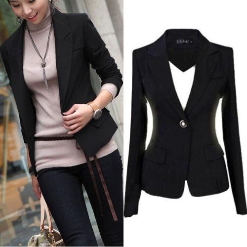 ファッションレディースコートスリムオフィスレディースブレザーレジャー新しいワンボタンジャケットスーツ