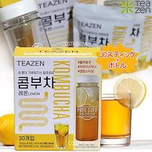 【ティーゼン】 BTS ジョングクs pickTEAZEN コンブチャ レモン/ゆず 30スティック+ボトル/コンブ茶/グレープフルーツ/プーアル茶