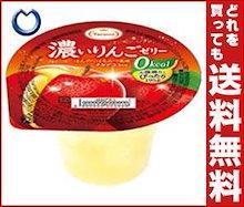 【送料無料】たらみ 濃いゼロカロリー 濃いりんごゼリー0kcal 195g×24(6×4)個入 ※北海道・沖縄・離島は別途送料が必要。