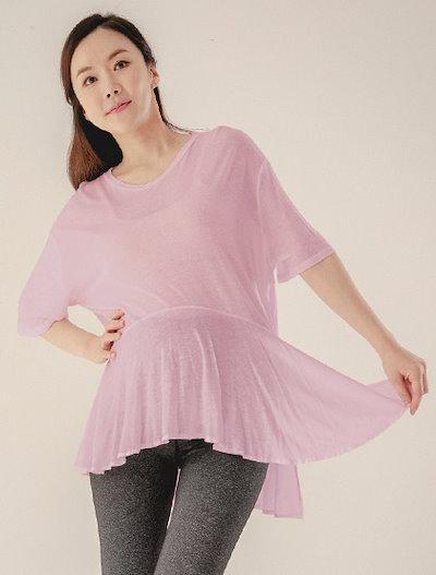 [ヨガ服、S114]ルーズフィットフレア妊婦のヨガTシャツAT1039女性ピラティス服