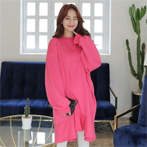 マイティボリュームワンピースnew 無地ワンピース/ワンピース/韓国ファッション
