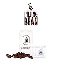 スクラブ 洗顔 ピーリングビーン PILLINGBEAN 12g 4g×3袋 送料無料 角質 毛穴 クレンジング 4g 3パック コーヒー コスメ