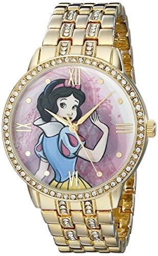 Disney Womens W001826 Snow White Analog Display Analog Quartz Gold Watch