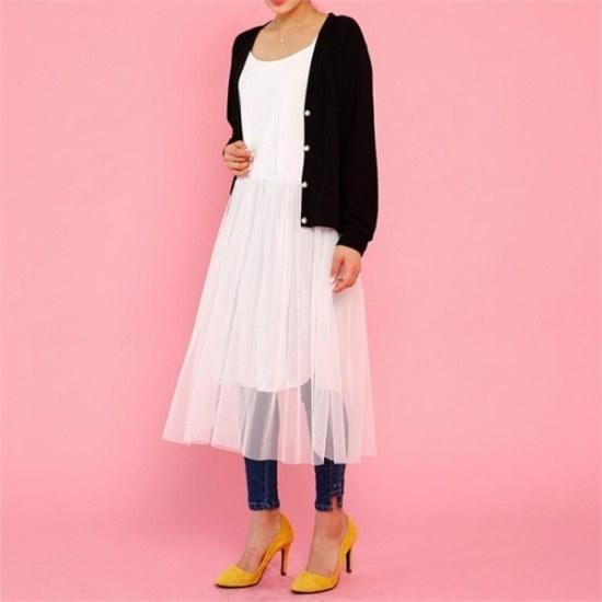 [ジェイスタイル] [行き来/ジェイスタイル]ビッグサイズ/ジェイスタイルフロンネットナシワンピース 綿ワンピース/ 韓国ファッション