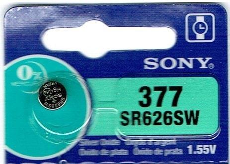 SONY 377 (1個) SR626SW 日本製 腕時計用無酸化銀ボタン電池 海外向けパッケージ