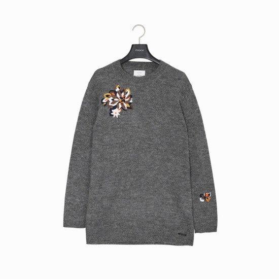 ペノムNUMPHSALAK KNITP176MSW004W ロングニット/ルーズフィット/セーター/韓国ファッション