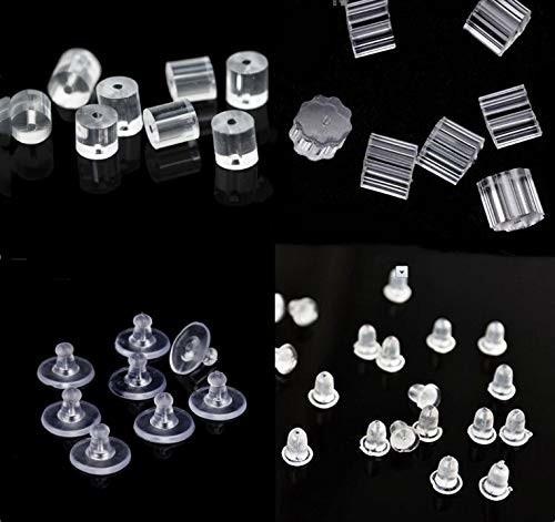LOKIPA ピアス キャッチ シリコン製 落ない 4種類200個セット キャッチャー 樹脂 下向き防止 留め具 アクセサリー パーツ