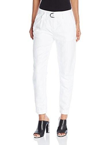 Sanctuary Clothing Womens Essential Boulevard Pant, White, 0