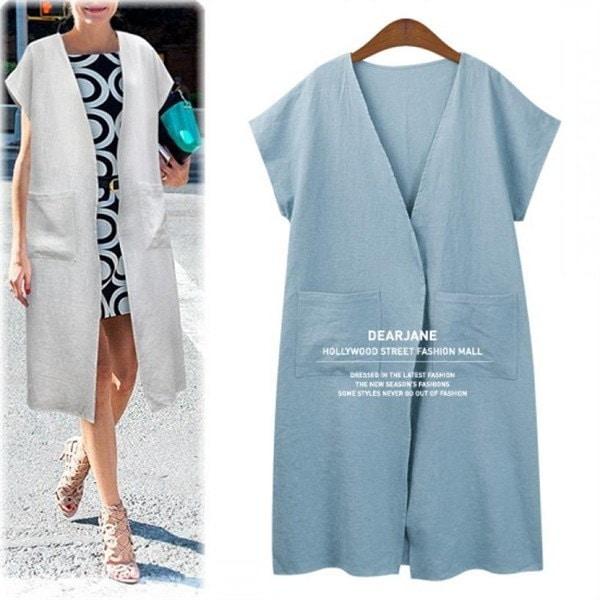ディアジェーンリンネンロングベストM3500 new 女性ニット/ニットベスト/韓国ファッション